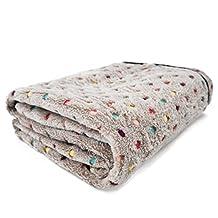 PAWZ Road Pet Dog Blanket Fleece Fabric Soft and Cute Grey S
