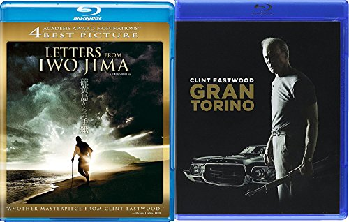 Clint Eastwood 2-Pack Letters from Iwo Jima & Gran Torino Blu Ray Bundle Double Feature Movie Set Feature Films