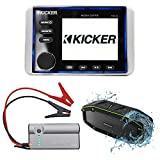 KICKER KMC10 Marine Gauge Hole Digital Media Bluetooth Receiver+Jump Starter