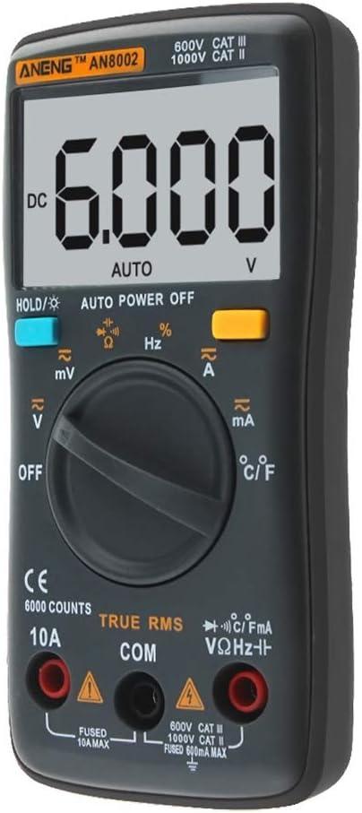 Ben-gi ANENG AN8002 6000 Multim/ètre Comtes R/étro/éclairage AC//DC Compte Retour amp/èrem/ètre Voltm/ètre Ohm Fr/équence diode testeur de temp/érature