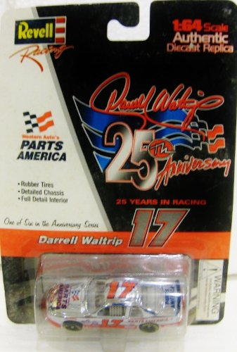 Darrell Waltrip #17 Parts America Chevy Monte Carlo Nascar In Red & White Diecast 1:64 Scale 25 Years In Racing By Revell from diecast 164 scale