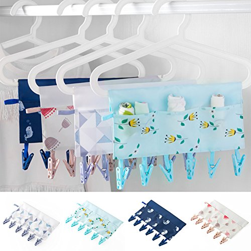 Portable Hanger Clip Laundry Hook Hanging Clothes Multi-Purp