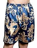 Edith qi Men's Kimono Satin Boxer Robe Shorts,Luxury Underwear for Gift,Multicolor