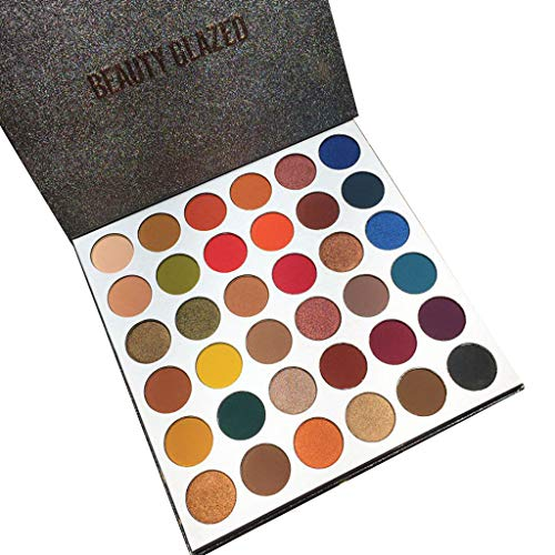 (Zlolia 36 Colors Eye Shadow Disc-Fantasy Matte Shimmer Makeup Pigmented-Waterproof Long Lasting Face Body Glitter)