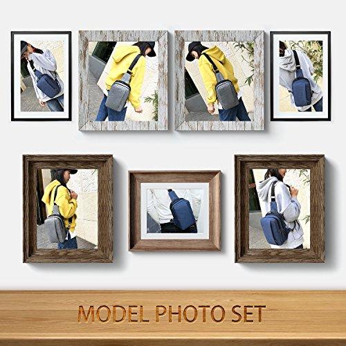 Classic Lightweight Casual Messenger Bag Canvas Satchel Vintage Shoulder Crossbody Bag Briefcase for Men and Women (Navy Blue) by EBEYUKI (Image #5)