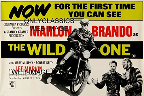 - OnlyClassics 1954 The Wild ONE Marlon Brando ON Triumph Motorcycle Movie Poster Bad BOY Gang