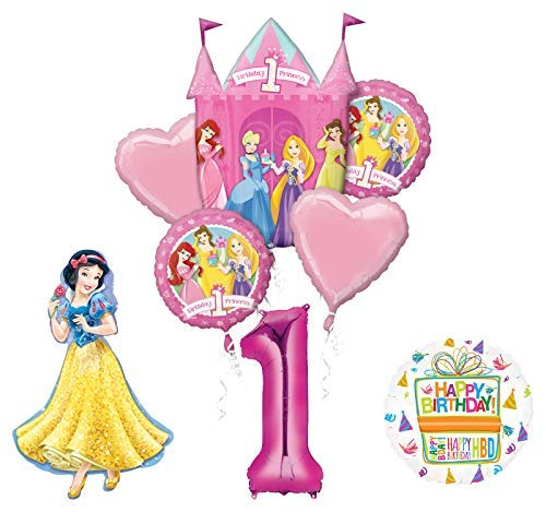 Mayflower Products Princess 1st Birthday Party Supplies Snow White Balloon Bouquet Decorations (Snow White 1)