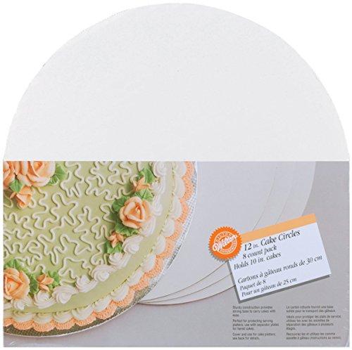 Cake Boards-12 Round White 8/Pkg