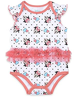 Baby Girls' Minnie Mouse Tutu Bodysuit