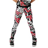 Alexandra Collection Womens Graffiti Athletic Hip Hop Workout Leggings Graffiti Small