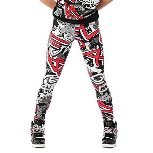Alexandra Collection Womens Graffiti Athletic Hip Hop Workout Leggings