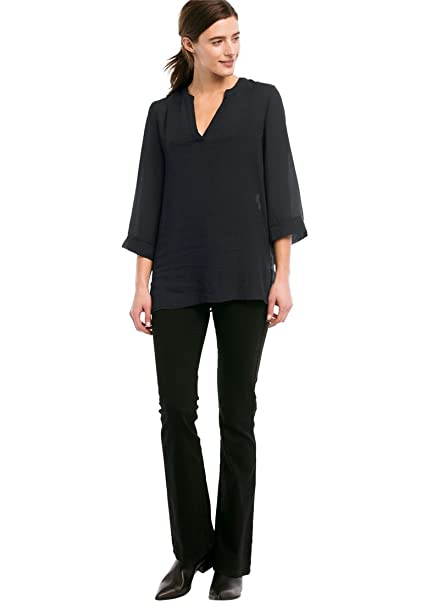 Ellos Women S Plus Size Oversized V Neck Sheer Blouse At Amazon