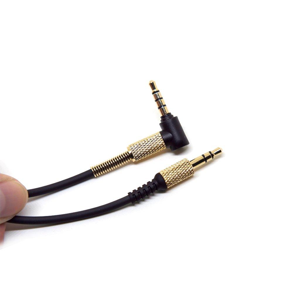 Ohne MIC Dasorende Feder Audio Kabel Kabelleitung f/ür Marshall Major II 2 Monitor Kopfh?Rer