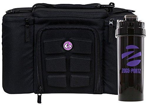 6 Pack Fitness Bag Innovator 300 Black/Neon Purple (3 Meal) w/Bonus ZogoSportz Cyclone (Fitness Bag)