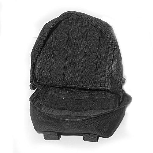 Estuche Táctico, Polersun Molle Táctico EMT Médico Primeros Auxilios IFAK bolsa de Utilidad Bolsa Hombre Mujer Pequeño Militar Estuche Multifuncional Portable Organizador EDC Bolso Gadget Cintura Bols Negro