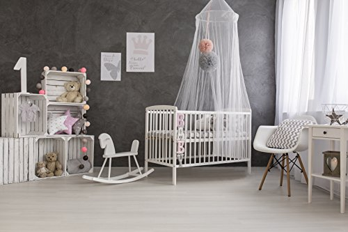 Mosquito Guard Baby Crib Netting - (FREE Stroller Netting Included) Compatible with Baby/ Toddler Cribs, Beds, Bassinets, Playpens, Cradles ( WHITE )
