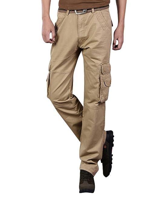 1d0cfeba608 Anyu Pantalones Militares Cargo Pantalón Largo con Muchos Bolsillos Cargo  Pants para Hombres  Amazon.es  Ropa y accesorios