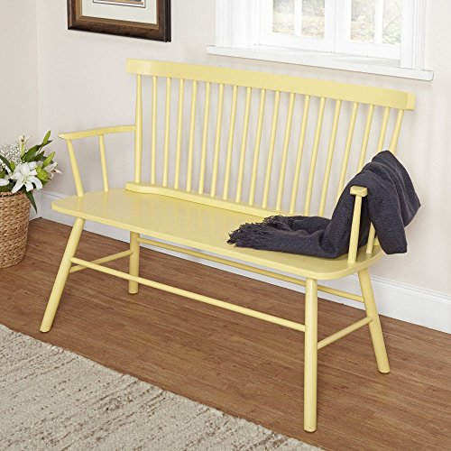 Target Marketing Systems Shelby Bench With Classic Spindle Back And Arms Min