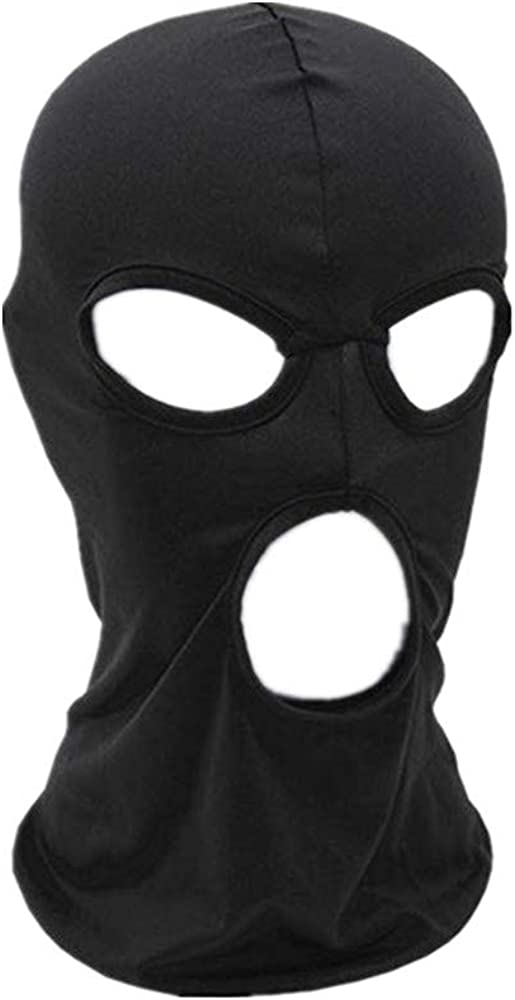 WIN Balaclava Mask,Thin Lycra Three Holes Full Face Mask for Motorcycle Bike Hunting Cycling Cap Ski