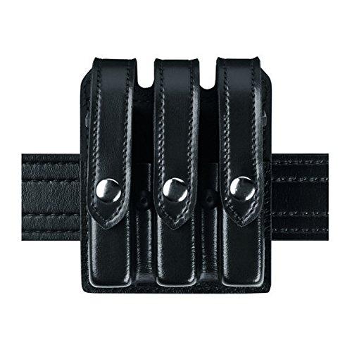 Safariland Duty Gear Glock 17, 22, 34, 35 Flat Top Slimline Triple Magazine Pouch (Plain Black)