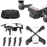 Rantow Spark Acceorries Combo, Camera Gimbal Guard Cover + Landing Height Extender + Thumb Stick Protector + Fixing Propeller Clip for DJI Spark Drone