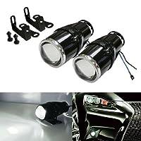 "iJDMTOY (2 2.25"" Projector Fog Light Lamps For Most Car SUV Truck Bike Add-On or Retrofit DIY"