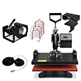 VEVOR 12 X 15 Inch 8 in 1 Heat Press Digital LCD Controller T shirts Press Machine Swing Away Design Heat Press Machine Transfer Sublimation Hat Mug Cap Plate Mouse Pad (8 In 1 12 X 15 Inch)