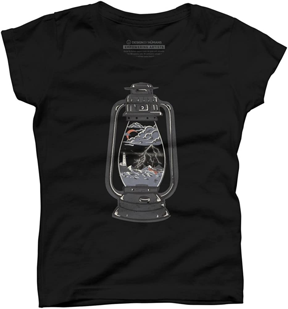 Design By Humans Storm Lantern Girls Youth Graphic T Shirt