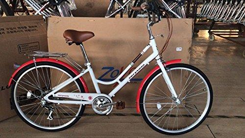 26' Womens Cruiser Bike (ZOYO Ladies Hybrid Bike Women's Bike Lightweight Aluminum Ladies Cruiser 26'' White Shimano 7 Speed Ladies Commuter Bike)