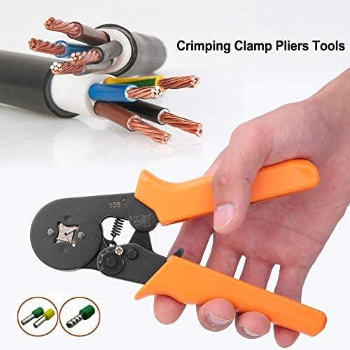 Fictor 自動調整圧着プライヤーオレンジハンドル端子圧着ハンドツール0.25-10mm²23-7 AWG