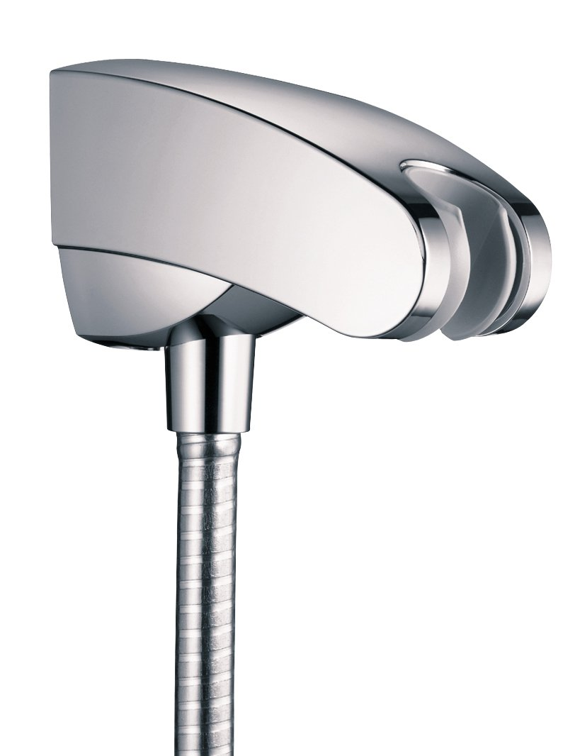 Hansgrohe 27508001 Porter E\' Holder with Outlet, Chrome - Single ...