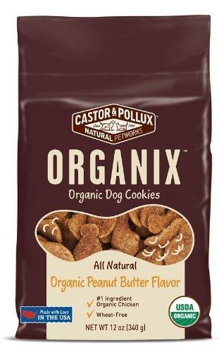 Castor & Pollux Organix Dog Cookies, 12 Oz x 2 Pks, Peanut Butter Flavor