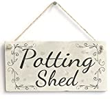 Potting Shed - Handmade French Country Decor Wooden Sign / Plaque Gardening Gift Wooden Hanging Sign 8