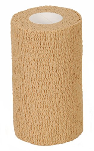 Medline Caring Self-Adherent Cohesive Wrap Bandage, Non-Sterile, Latex-Free, 4
