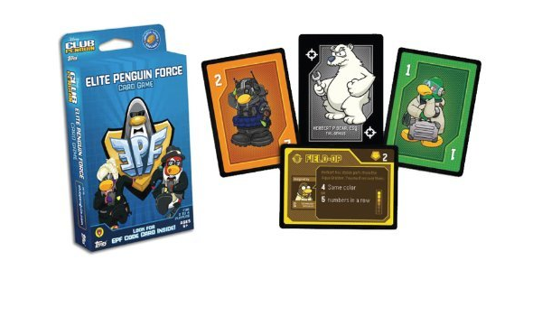 Amazon Com Rare Epf Code Card 2 4 Players Disney Club Penguin Elite Penguin Force Card Game Limited Supply Collectible No Longer In Production Card Jitsu Players Love