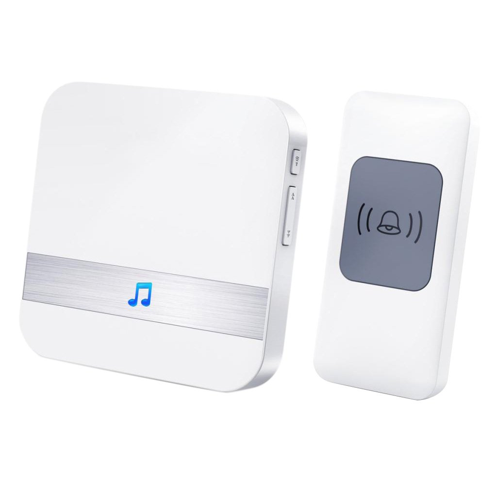 Homyl Plug In Wireless Door Chime Bell Ring Receiver 52 Tones 1000ft Wide Range, Commersial Residential Use