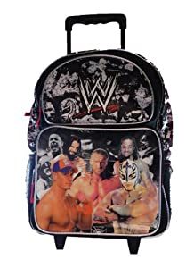Amazon.com : WWE Large Rolling Backpack : Sports Fan Backpacks ...