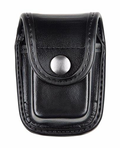(Bianchi AccuMold Elite Chrome Snap 7915 Pager or Glove Pouch (Plain Black))