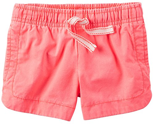 (Carter's Girls' Pink Twill Shorts With Drawcord (6m))