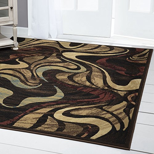 Home Dynamix Catalina Black Hand Carved Contemporary Rug Size: 5'3
