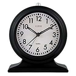 Lacrosse 617-3014 Mantel Alarm Clock, Black