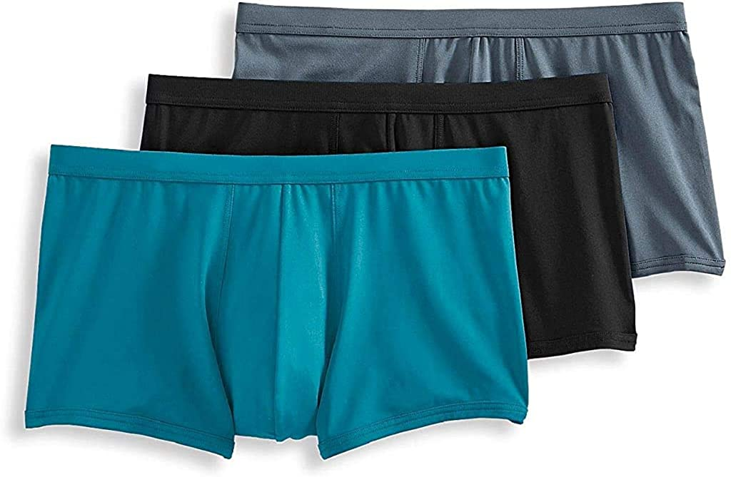 Jockey Life 3-Pack Men's Fresh Microfiber Stretch Trunks - Assorted Solids