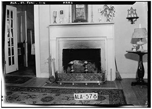 8 x 12 Photo 4. Historic American Buildings Survey W. N. Manning, Photographer, July 18, 1935 Fireplace in Parlor, S. W. Room - Crowell-Cantey-Alexander House, State Road 165, Fort Mitch 1881 88a by Vintography