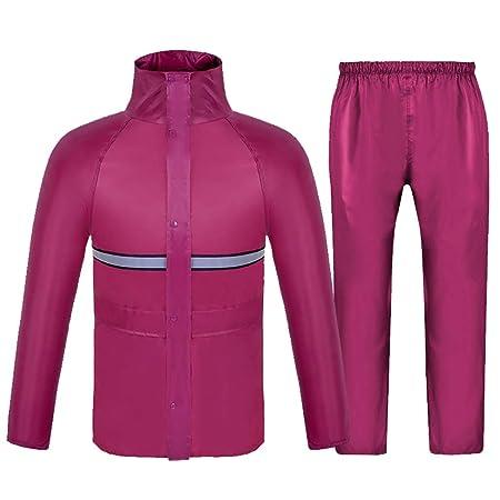Conjunto de chaqueta y pantalón impermeable Traje de lluvia ...