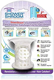 "ShowerShroom the Revolutionary 2"" Stand-Up Shower Stall Drain Protector Hair Catcher/Str"