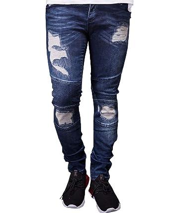 YouXin Jeans per Uomo Strappati Slim Fit Moto Denim Hip Hop