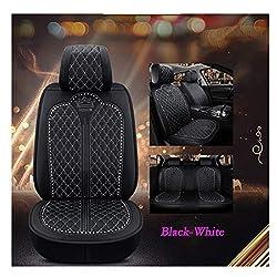Luxury Auto Car Seat Cover In Black-White