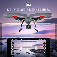 Kolibri Hellfire HD Wide-Angle Camera Drone with FPV App Video Stream, with 15 Minutes Flight Time, Altitude Hold, Headless Mode, Auto Take-Off & Landing Quadcopter for Beginners Model: XK6600 from Kolibri