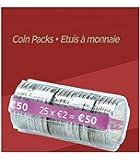 FORMAREC - Lot de 100 etuis - Coques pour mise en rouleau des pièces de 2.00 EURO.