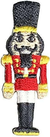 Style B Christmas Embroidered Iron On Applique Patch Nutcracker